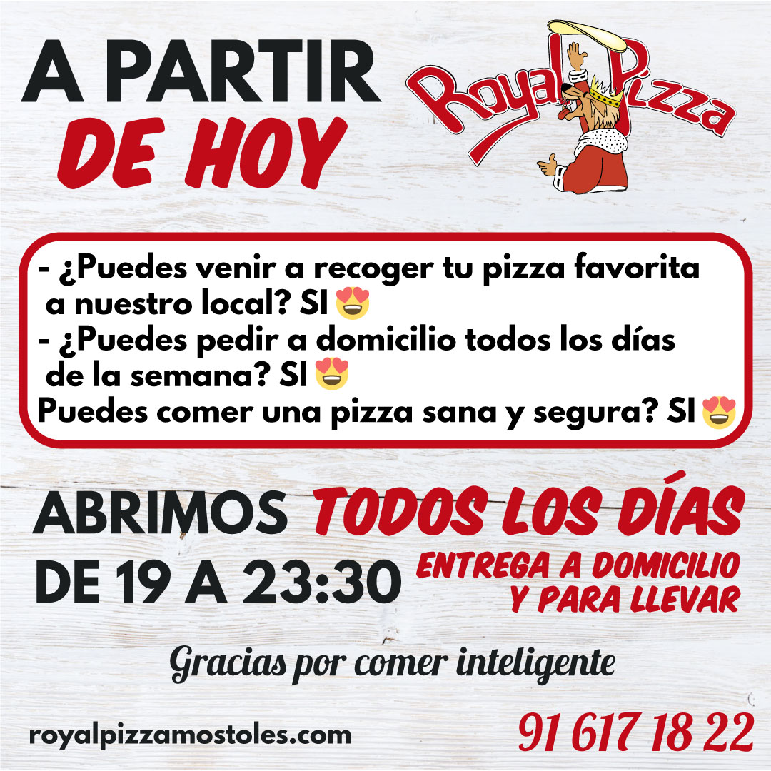 royal pizza mostoles anuncio